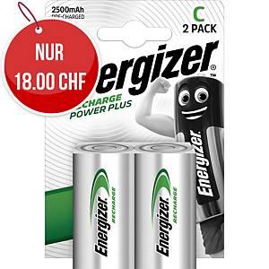 Akku Energizer Rechargeable C, HR14/E93/AM2/Baby, Packung à 2 Stück