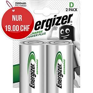 Akku Energizer Rechargeable D, HR20/X95/AM1/Mono, Packung à 2 Stück