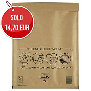 Buste a sacco imbottite Mail Lite® gold 27 x 36 cm avana - conf. 50