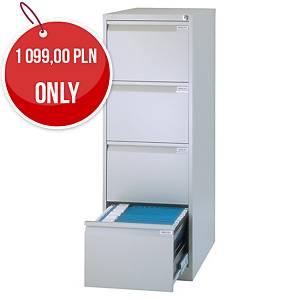 Bisley 4-Drawer Metal Filing Cabinet 1321 X 470 X 622mm - Grey