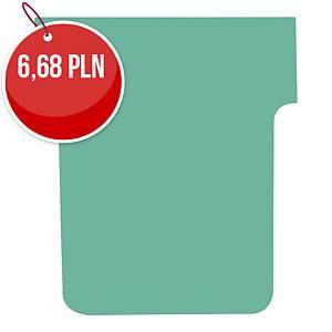 Karteczki do planerów NOBO T-CARD T2 zielone, 100 sztuk