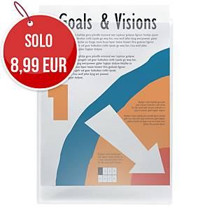 Tasche adesive A4 22 x 30,5 cm trasparenti - conf. 10