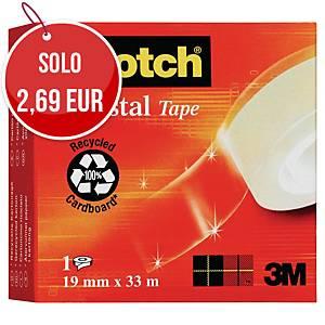 Nastro adesivo supertrasparente Scotch®Crystal L 33 m x H 19 mm