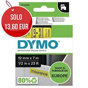 Nastro D1 per etichettatrice Dymo 12 mm nero/giallo S0720580