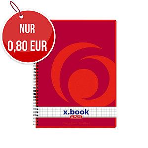 Herlitz Spiralblock mit weichem Umschlag A5 kariert, 80 Blatt