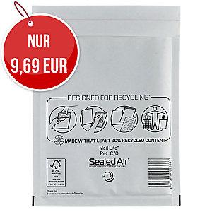 Luftpolstertaschen Mail Lite C/0, Innenmaße: 150x210mm, weiß, 100 Stück