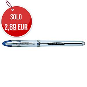 Penna roller con cappuccio uni-ball Vision Elite  punta 0,8 mm blu