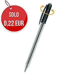 Penna a sfera con cappuccio Tratto 1 punta 1 mm nero