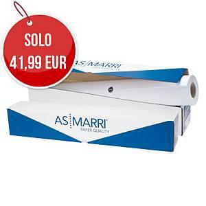 Rotolo carta plotter opaca bianca AS MARRI 90 g/mq - 106,7 cm x 50 m