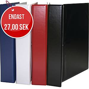 Gaffelpärm med ficka, 50 mm, A4, svart