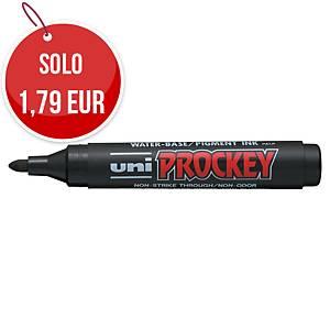 Marcatore indelebile Uni Prockey punta tonda nero