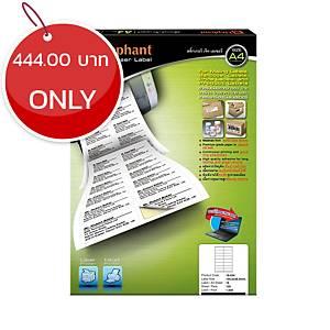 ELEPHANT 18-034 Jet Laser Label 105mm X 36mm 16 Labels/Sheet - Pack of 100