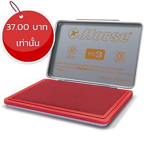 ตราม้า แท่นประทับสี เบอร์3 5.4 x 8.5ซม. สีแดง