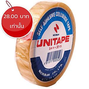 UNITAPE เทปใส ขนาด 3/4นิ้วX36 หลา แกน 3 นิ้ว