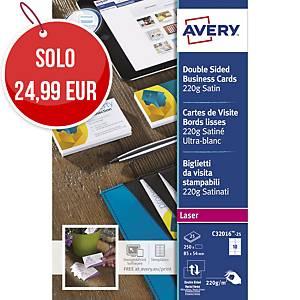 Biglietti da visita stampabili Avery C32016-25 stampanti laser - conf. 250