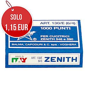 CONFEZIONE DA 1000 PUNTI ZENITH 130/E - ALTEZZA 4 MM - LARGHEZZA 6 MM