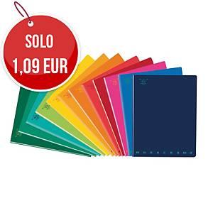 QuadernoPigna Monocromo Standard 15 x 20,3 cm righe colori assortiti