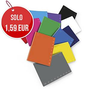 Quaderno Pigna Monocromo Maxi 21 x 29,7 cm righe colori assortiti