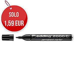 Marcatore industriale indelebile Edding 2000 punta tonda tratto: 1,5-3 mm nero