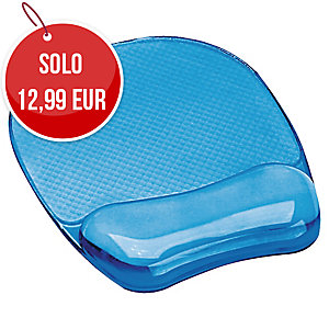 TAPPETINO CON POGGIAPOLSI CRYSTAL GEL BLU FELLOWES