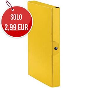 Cartella portaprogetto Esselte Eurobox cartone con bottone dorso 4 cm giallo