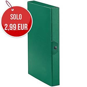 Cartella portaprogetto Esselte Eurobox cartone con bottone dorso 4 cm verde