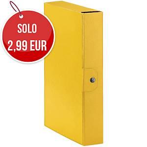 Cartella portaprogetto Esselte Eurobox cartone con bottone dorso 6 cm giallo
