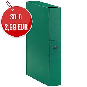 Cartella portaprogetto Esselte Eurobox cartone con bottone dorso 6 cm verde