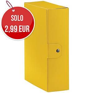 Cartella portaprogetto Esselte Eurobox cartone con bottone dorso 10 cm giallo