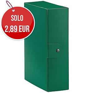 Cartella portaprogetto Esselte Eurobox cartone con bottone dorso 10 cm verde