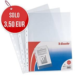 Buste a perforazione universale Esselte Office 22x30 cm antiriflesso - conf. 50