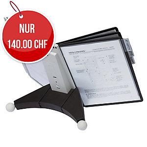 Tischsichttafelsystem Durable Sherpa table 10 563222, inkl. 10 Sichttafeln