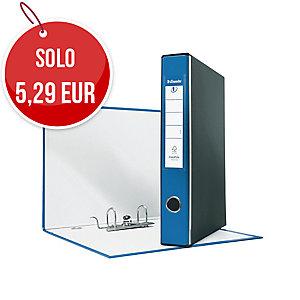 REGISTRATORE EUROFILE IN PP L 23 X H33 DORSO 5 COLORE BLU CON CUSTODIA