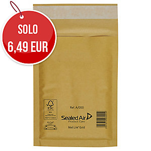 BUSTE A SACCO IMBOTTITE MAIL LITE GOLD 35x47 CM COLORE AVANA CONF. DA 10