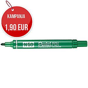 Pentel N50 huopakynä pyöreä 1-2 mm, permanent, vihreä