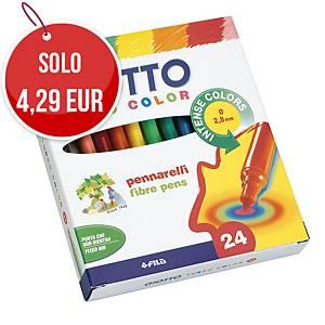Pennarelli Giotto Turbo Color punta fine in scatola - conf. 24
