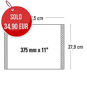 Moduli continui 375 mm x 11   a 1 copia 60 g/mq grigio - conf. 2000