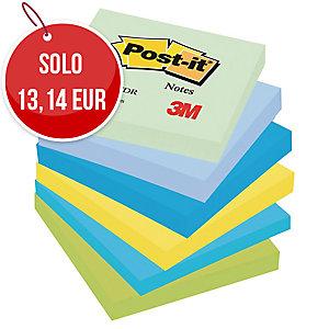 FOGLIETTI POST-IT® ADESIVO STANDARD: KIT 6 BLOCCHETTI 76x76MM COLORI DREAM