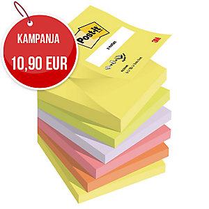 Post-it Z-notes 76 x 76mm, neon, myyntierä 1 kpl = 6 nidettä