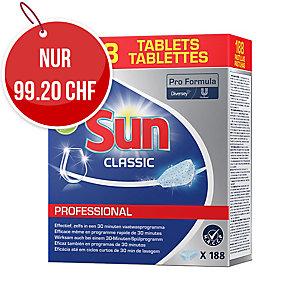 Ökologische Geschirrspül-Tabs Sun Professional, Packung à 200 Stück