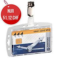 Ausweishalter Durable Hartbox mit Clip 8005-19, für 1 Ausweis, Pk. à 25 Stk.