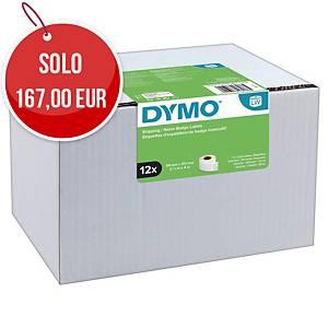 Etichette per Dymo LabelWriter in carta bianca 101 mm in rotolo - conf. 12 x 220