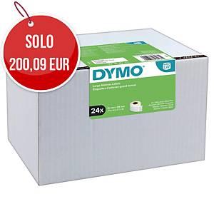 Etichette per Dymo LabelWriter in carta bianca 89 mm in rotolo - conf. 24 x 260