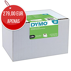 Pc24 fitas 260 labels DYMO 89x36 branco