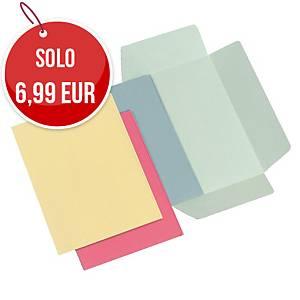 Cartellette 3 lembi Arca cartoncino manilla 145 g/mq azzurro - conf. 50