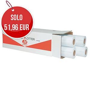 Rotolo carta plotter opaca bianca AS MARRI Jp one 90 g/mq - conf. 4