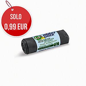Sacchi spazzatura Misterpack 30 L nero - rotolo 20