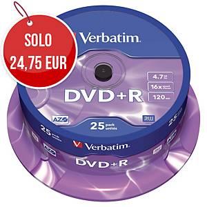 DVD+R Verbatim 4.7 GB 120 min spindle - conf. 25