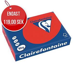 Färgat papper Trophée 8175, A4, 80g, rött, förp. med 500 ark