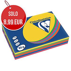 RISMA 500 FOGLI CARTA TROPHEE CLAIREFONTAINE FORMATO A4 80 G/MQ COLORI ASSORTITI
